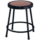 National Public Seating 6218 Black 18 inch Hardboard Round Lab Stool
