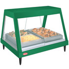 Hatco GRHDH-3P Hunter Green Stainless Steel Glo-Ray 46 3/8 inch Full Service Single Shelf Merchandiser with Humidity Chamber