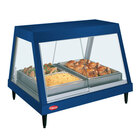 Hatco GRHDH-3P Navy Blue Stainless Steel Glo-Ray 46 3/8 inch Full Service Single Shelf Merchandiser with Humidity