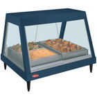 Hatco GRHDH-3P Navy Blue Stainless Steel Glo-Ray 46 3/8 inch Full Service Single Shelf Merchandiser with Humidity Chamber