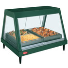 Hatco GRHDH-2P Hunter Green Stainless Steel Glo-Ray 33 3/8 inch Full Service Single Shelf Merchandiser with Humidity Chamber