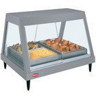 Hatco GRHDH-2P Gray Granite Stainless Steel Glo-Ray 33 3/8 inch Full Service Single Shelf Merchandiser with Humidity Chamber