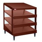 Hatco GRPWS-2424T Antique Copper Glo-Ray 24 inch Triple Shelf Pizza Warmer - 1800W
