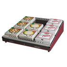 Hatco GRPWS-2424 Wine Red Glo-Ray 24 inch Single Shelf Pizza Warmer - 480W