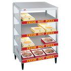 Hatco GRPWS-4818Q Granite White Glo-Ray 48 inch Quadruple Shelf Pizza Warmer - 3840W