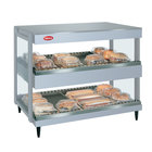 Hatco GRSDH-41D White Granite Glo-Ray 41 inch Horizontal Double Shelf Merchandiser