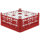 Vollrath 52763 Signature Full-Size Red 9-Compartment 7 11/16 inch X-Tall Plus Glass Rack