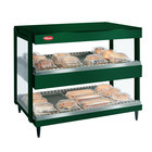 Hatco GRSDH-41D Hunter Green Glo-Ray 41 inch Horizontal Double Shelf Merchandiser
