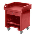 Cambro VCS158 Hot Red Versa Cart with Standard Casters