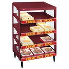 Hatco GRPWS-4824Q Wine Red Glo-Ray 48 inch Quadruple Shelf Pizza Warmer - 4780W