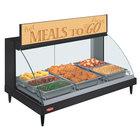 Hatco GRCD-3P Black 45 inch Glo-Ray Full Service Single Shelf Merchandiser - 120V, 1005W