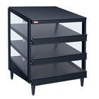 Hatco GRPWS-3624T Black Glo-Ray 36 inch Triple Shelf Pizza Warmer - 2700W