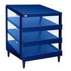 Hatco GRPWS-4818T Navy Blue Glo-Ray 48 inch Triple Shelf Pizza Warmer - 2880W