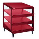 Hatco GRPWS-3624T Wine Red Glo-Ray 36 inch Triple Shelf Pizza Warmer - 2700W