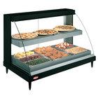 Hatco GRCD-3PD Black 45 inch Glo-Ray Full Service Double Shelf Merchandiser - 120V, 1710W