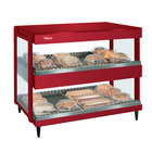Hatco GRSDH-30D Warm Red Glo-Ray 30 inch Horizontal Double Shelf Merchandiser - 120V