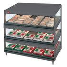 Hatco GRSDS-36T Gray Granite Glo-Ray 36 inch Slanted Triple Shelf Merchandiser