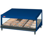Hatco GRSDS-60 Navy Blue Glo-Ray 60 inch Slanted Single Shelf Merchandiser - 120V