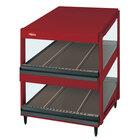 Hatco GRSDS-24D Warm Red Glo-Ray 24 inch Slanted Double Shelf Merchandiser - 120V