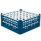 Vollrath 52781 Signature Full-Size Royal Blue 36-Compartment 7 11/16 inch X-Tall Plus Glass Rack