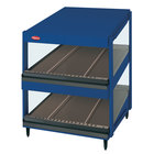 Hatco GRSDS-41D Navy Blue Glo-Ray 41 inch Slanted Double Shelf Merchandiser
