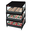 Hatco GRSDS-24T Black Glo-Ray 24 inch Slanted Triple Shelf Merchandiser - 120V