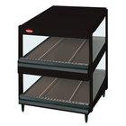 Hatco GRSDS-52D Black Glo-Ray 52 inch Slanted Double Shelf Merchandiser