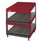 Hatco GRSDS-60D Warm Red Glo-Ray 60 inch Slanted Double Shelf Merchandiser