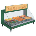 Hatco GRCDH-3P Green 46 inch Glo-Ray Full Service Single Shelf Merchandiser with Humidity Controls - 1255W