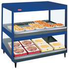 Hatco GRSDS/H-30D Navy Blue Glo-Ray 30 inch Horizontal / Slanted Double Shelf Merchandiser