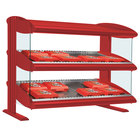 Hatco HXMS-24D Warm Red Xenon 24 inch Slanted Double Shelf Merchandiser - 120V