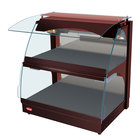 Hatco GRCMW-1DH Copper Glo-Ray 26 inch Full Service Double Shelf Curved Merchandising Warmer - 1660W