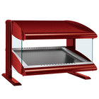 Hatco HZMS-24 Warm Red 24 inch Slanted Single Shelf Heated Zone Merchandiser - 120V