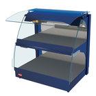 Hatco GRCMW-1D Navy Glo-Ray 26 inch Full Service Double Shelf Curved Merchandising Warmer - 1540W