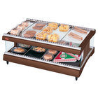 Hatco GR3SDH-27 Antique Copper Glo-Ray 27 inch Horizontal Single Shelf Heated Glass Merchandising Warmer - 120V