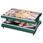 Hatco GR3SDH-39 Hunter Green Glo-Ray 39 inch Horizontal Single Shelf Heated Glass Merchandising Warmer - 120V