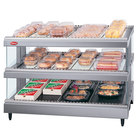 Hatco GR3SDS-27D Gray Granite Glo-Ray 27 inch Slanted Double Shelf Heated Glass Merchandising Warmer - 120V
