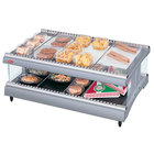 Hatco GR3SDH-27 Gray Granite Glo-Ray 27 inch Horizontal Single Shelf Heated Glass Merchandising Warmer - 120V