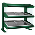 Hatco HZMS-42D Hunter Green 42 inch Slanted Double Shelf Heated Zone Merchandiser