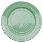 CAC TG-6-G Tango 6 1/2 inch Green Round Plate - 36 / Case