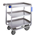 Lakeside 722 Heavy Duty Stainless Steel 3 Shelf Utility Cart - 19 3/8