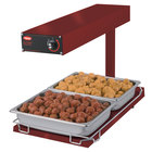 Hatco GRFFBI Glo-Ray Radiant Red 12 3/4 inch x 24 inch Portable Food Warmer with Infinite Controls and Heated Base - 120V, 750W