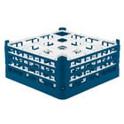 Vollrath 52769 Signature Full-Size Royal Blue 16-Compartment 7 11/16 inch X-Tall Plus Glass Rack