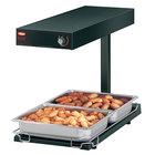 Hatco GRFFBL Glo-Ray Bold Black 12 3/4 inch x 24 inch Portable Food Warmer with Infinite Controls, Heated Base and Overhead Light - 120V, 870W