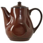 Tuxton GAR-101 TuxTrendz Artisan Red Rock 17 oz. China Tea Pot with Lid - 12/Case