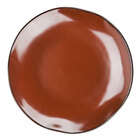 Tuxton GAR-006 Artisan Red Rock 10 1/4 inch China Plate - 12/Case
