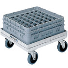 Lakeside 337 Aluminum Glass / Dish Rack Dolly - 20 5/8 inch x 22 3/8 inch x 9 1/4 inch