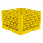 Vollrath TR8DDDDD Traex Full-Size Yellow 16-Compartment 11 inch Glass Rack