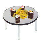 Geneva 2276 22 inch Round Rimless Stacking Mirror Food Display Tray