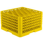 Vollrath TR12HHHHH Traex Rack Max Full-Size Yellow 30-Compartment 11 7/8 inch Glass Rack